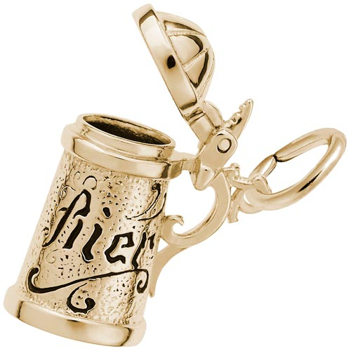14K Gold Beer Stein Charm by Rembrandt Charms