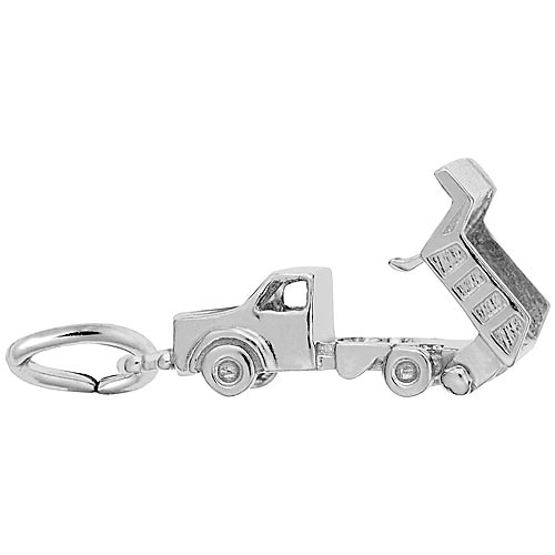 Sterling Silver Dump Truck Charm opens by Rembrandt Charms