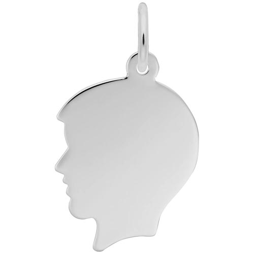 Rembrandt Boy's Head Charm, Sterling Silver
