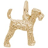 10k Gold Airedale Dog Charm by Rembrandt Charms