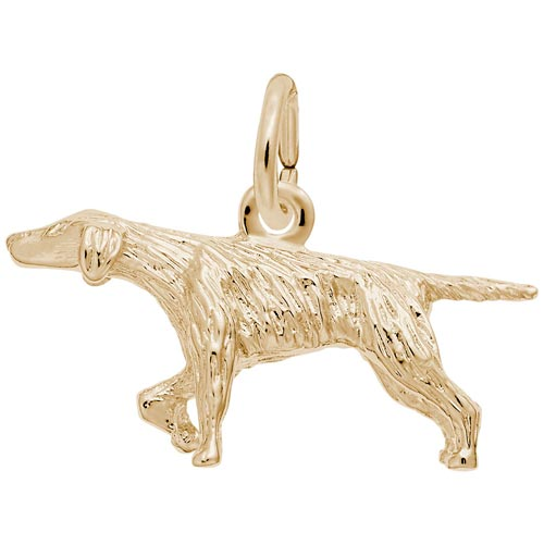 Gold Plate Pointer Dog Charm by Rembrandt Charms