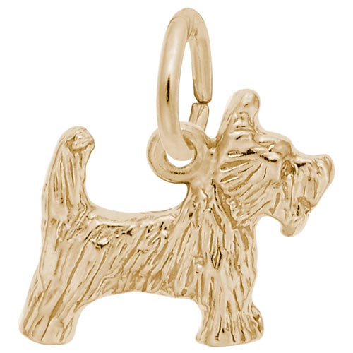 10K Gold Scottie Dog Charm by Rembrandt Charms