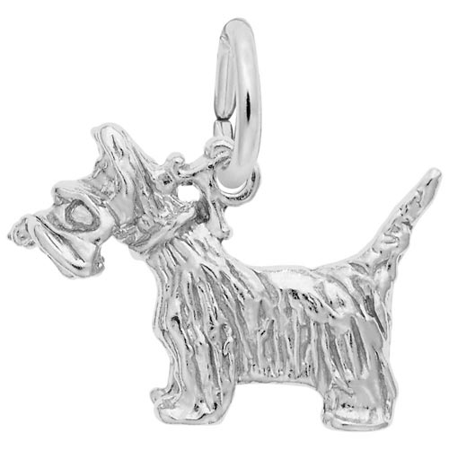 Sterling Silver Scottie Dog Charm by Rembrandt Charms