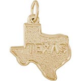 Gold Plated Texas State Map Charm by Rembrandt Charms