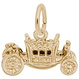 Gold Plate Royal Carriage Charm by Rembrandt Charms