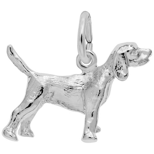 14K White Gold Beagle Dog Charm by Rembrandt Charms