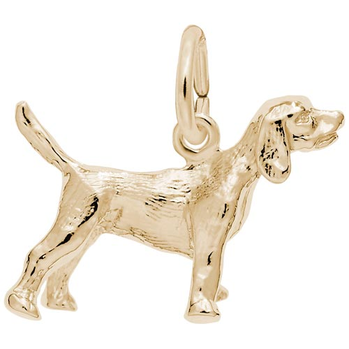 Gold Plate Beagle Dog Charm by Rembrandt Charms