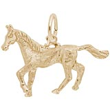 10K Gold Trotting Horse Charm by Rembrandt Charms