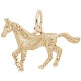 Rembrandt Trotting Horse Charm, 14k Gold