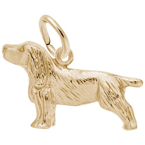 Gold Plate Springer Spaniel Dog Charm by Rembrandt Charms