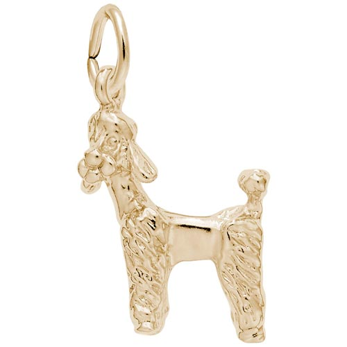 14k Gold Poodle Dog Charm by Rembrandt Charms