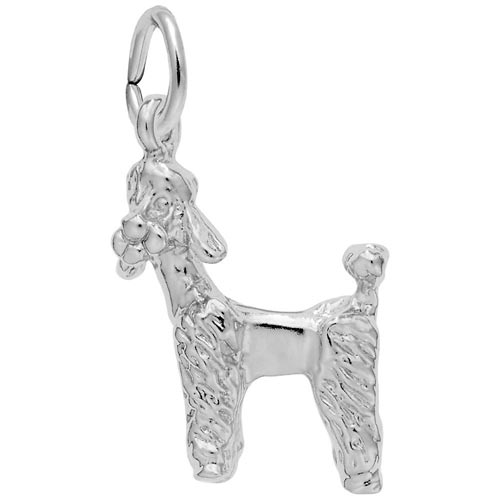 14k White Gold Poodle Dog Charm by Rembrandt Charms