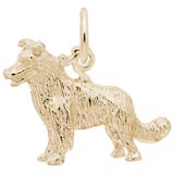 Gold Plate Border Collie Dog Charm by Rembrandt Charms