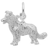 14k White Gold Border Collie Dog Charm by Rembrandt Charms