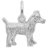 Sterling Silver Jack Russell Terrier Charm by Rembrandt Charms