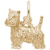 10K Gold West Highland Terrier Charm by Rembrandt Charms