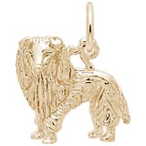 14K Gold Sheltie Dog Charm by Rembrandt Charms