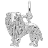 14K White Gold Sheltie Dog Charm by Rembrandt Charms