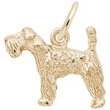 Gold Plate Kerry Blue Terrier Dog Charm by Rembrandt Charms