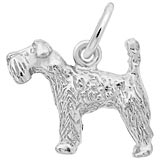 14K White Gold Kerry Blue Terrier Dog Charm by Rembrandt Charms