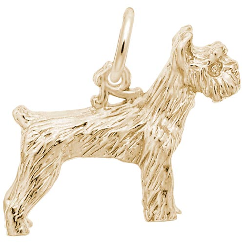 Gold Plate Schnauzer Dog Charm by Rembrandt Charms