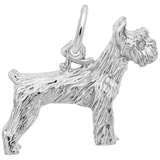 14K White Gold Schnauzer Dog Charm by Rembrandt Charms