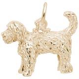 14K Gold Labradoodle Dog Charm
