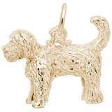 Gold Plate Labradoodle Dog Charm