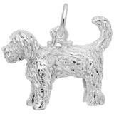Sterling Silver Labradoodle Dog Charm
