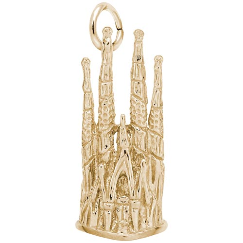 14k Gold Barcelona Cathedral Charm by Rembrandt Charms
