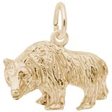 14K Gold Grizzly Bear