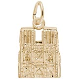 Gold Plate Notre Dame Cathedral Charm by Rembrandt Charms