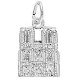 14K White Gold Notre Dame Cathedral Charm by Rembrandt Charms