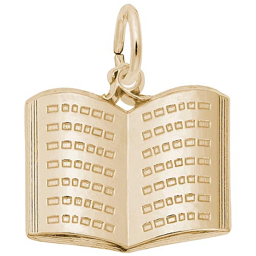 Rembrandt Open Book Charm, 10K Gold.