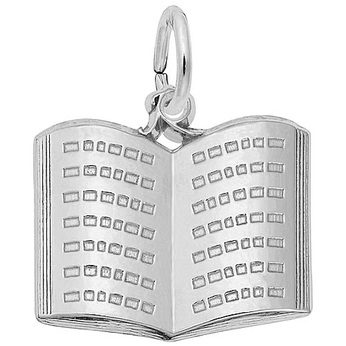 Rembrandt Open Book Charm, Sterling Silver.