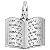 14K White Gold Open Book Charm by Rembrandt Charms