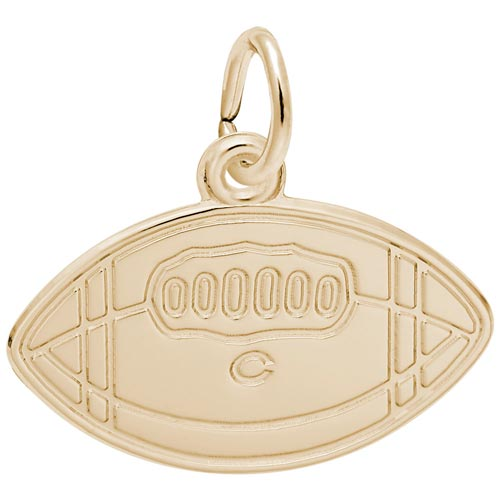 10K Gold College Football Charm by Rembrandt Charms