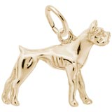 Gold Plated Boxer Dog Charm by Rembrandt Charms