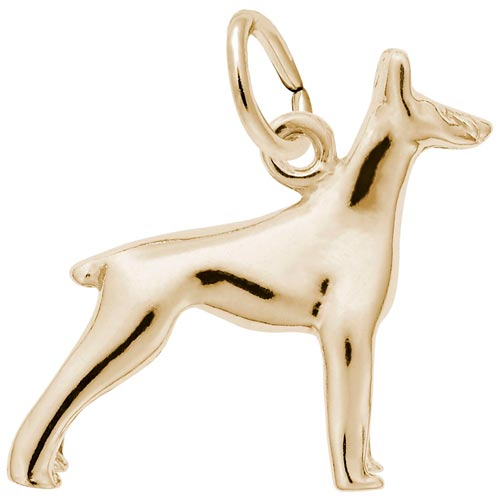 14K Gold Doberman Dog Charm by Rembrandt Charms
