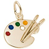 14K Gold Small Artist Palette Charm by Rembrandt Charms