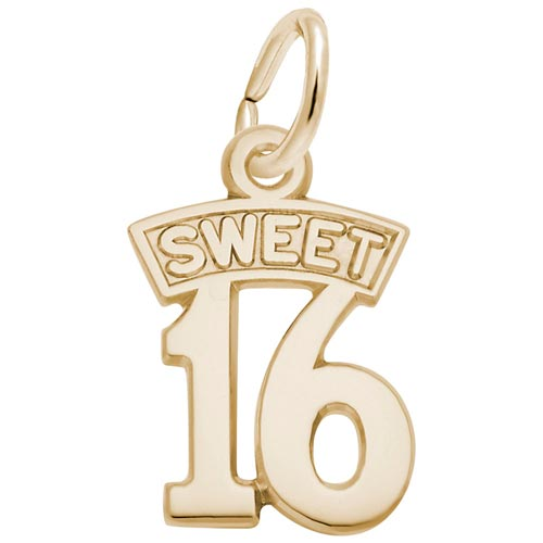 14K Gold Sweet Sixteen Charm by Rembrandt Charms