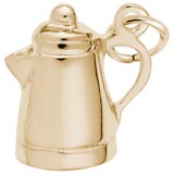 Gold Plate Espresso Pot Charm by Rembrandt Charms