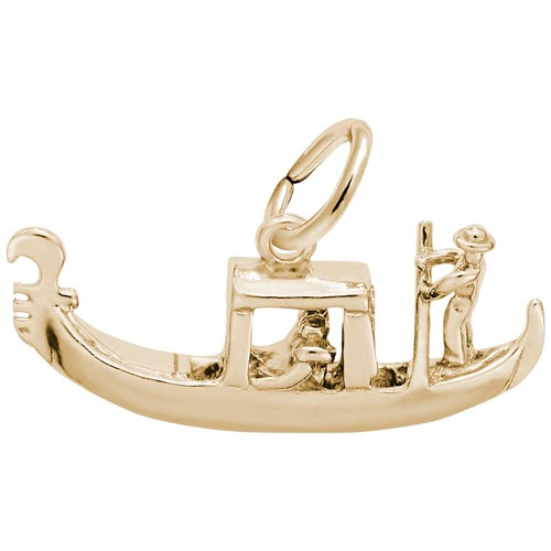 10K Gold Venetian Gondola Charm by Rembrandt Charms