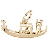 Gold Plate Venetian Gondola Charm by Rembrandt Charms