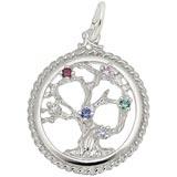 14K White Gold Tree of Life Charm Select Stones by Rembrandt Charms