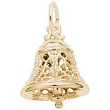 14K Gold Filigree Bell Charm by Rembrandt Charms
