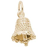 Gold Plate Small Speckled Bell Charm by Rembrandt Charms