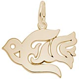 Gold Plate Peace Dove Charm by Rembrandt Charms