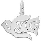 14K White Gold Peace Dove Charm by Rembrandt Charms