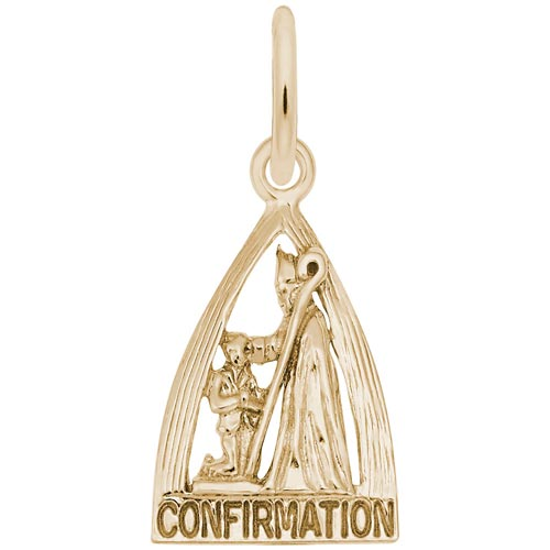 10k Gold Confirmation Charm by Rembrandt Charms